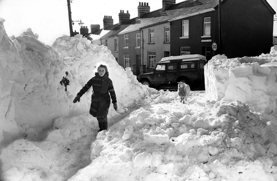 In Bedlinog, Wales, the snow drifts were taller than people. (Getty)