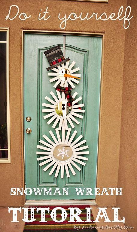 "<p>Craft your own Frosty the Snowman with painted wooden shims and a plaid tie.<br></p><p><em><a href=""http://www.allthingsthrifty.com/2012/11/diy-holiday-wreath-sunburst-snowman.html"" rel=""nofollow noopener"" target=""_blank"" data-ylk=""slk:Get the tutorial at All Things Thrifty »"" class=""link rapid-noclick-resp"">Get the tutorial at All Things Thrifty »</a></em></p>"