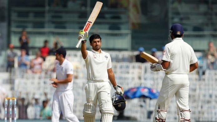 Karun Nair scored a triple century when India posted a total of 759 runs against England