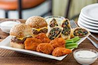 """<p><a href=""""https://www.delish.com/food-news/a46581/what-you-need-to-know-before-eating-at-chilis/"""" rel=""""nofollow noopener"""" target=""""_blank"""" data-ylk=""""slk:The margaritas"""" class=""""link rapid-noclick-resp"""">The margaritas</a> get you in the door, but then you need some fuel. <a href=""""https://www.msn.com/en-us/foodanddrink/restaurantsandnews/most-ordered-foods-at-chain-restaurants/ss-BBq3ol5#image=7"""" rel=""""nofollow noopener"""" target=""""_blank"""" data-ylk=""""slk:The Triple Dipper"""" class=""""link rapid-noclick-resp"""">The Triple Dipper</a> is one of Chili's most sharing-friendly options, perfect for pleasing all your dining mates, and it lets you chow down on three of the chain's best items without having to choose. Pick any trio you want, like sliders, boneless buffalo wings, and Southwestern egg rolls. </p>"""