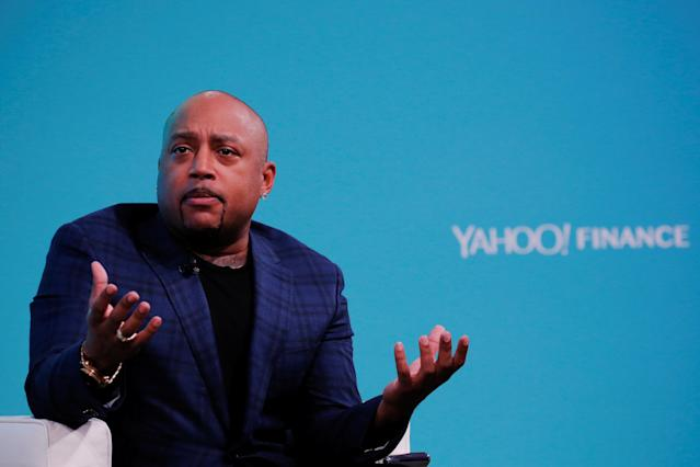 Daymond John at the Yahoo Finance All Markets Summit in New York on Feb 8, 2017. (Reuters)