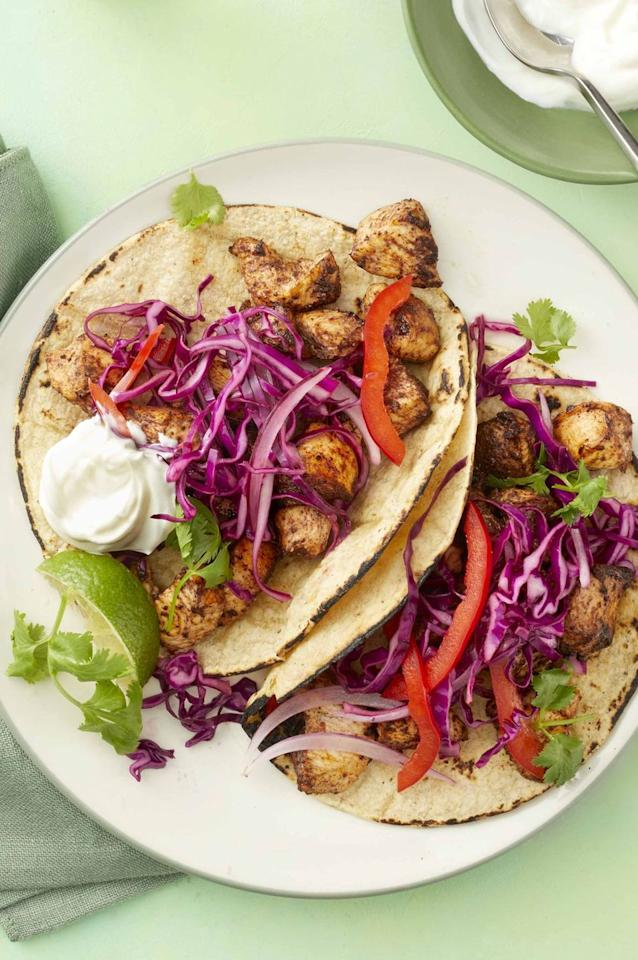 "<p>You've never tasted tacos like this one made with cocoa-and-cinnamon chicken.</p><p><em><a href=""https://www.womansday.com/food-recipes/food-drinks/a25940484/chicken-mole-tacos-recipe/"" target=""_blank"">Get the recipe for Chicken Mole Tacos.</a></em></p>"