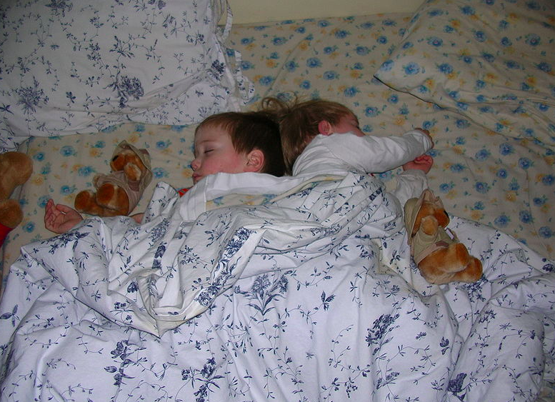 <em>Smoke alarms are crucial in warning families of fires in the night but children are notoriously difficult to wake using sound alone (Wikipedia/stock photo)</em>