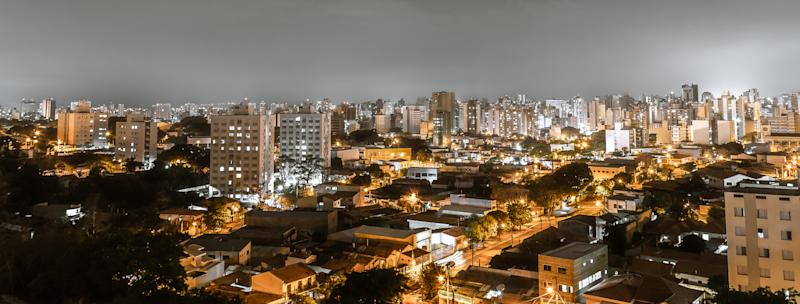 Top view of the city of Campinas, SP/ Brazil at night