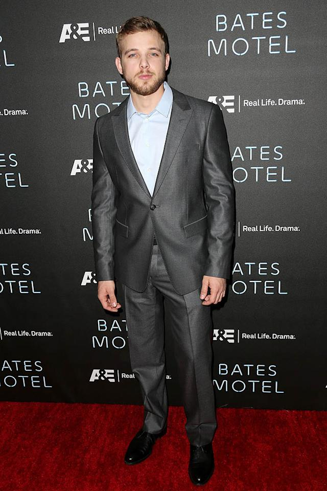 "Max Thieriot arrives at the premiere of A&E Network's ""Bates Motel"" at Soho House on March 12, 2013 in West Hollywood, California."