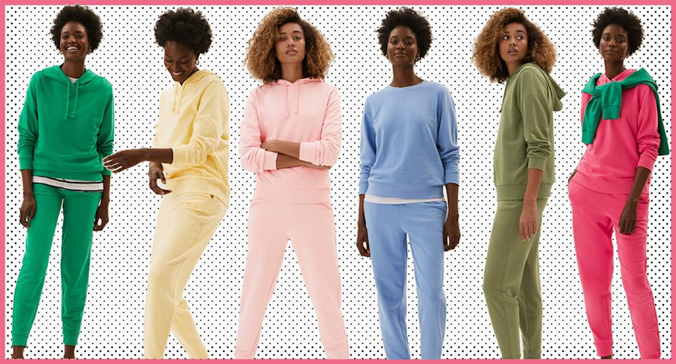 Marks and Spencer's comfy loungewear set is under £30 and we want it in every colour. (M&S/ Yahoo Life UK)
