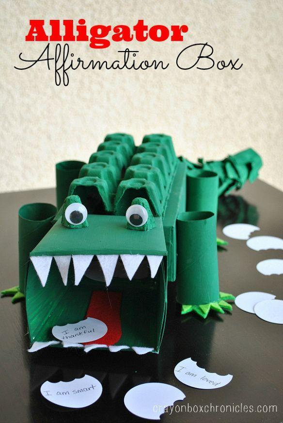 "<p>Sharp teeth, a long scaly tail, and a big red tongue make this alligator box one of a kind. It can easily be a Valentine box or an affirmation box, as the instructions detail.</p><p><strong>Get the tutorial at <a href=""https://crayonboxchronicles.com/2014/02/06/alligator-affirmation-box-showing-kids-love/"" rel=""nofollow noopener"" target=""_blank"" data-ylk=""slk:Crayon Box Chronicles"" class=""link rapid-noclick-resp"">Crayon Box Chronicles</a>.</strong></p><p><strong><strong><a class=""link rapid-noclick-resp"" href=""https://www.amazon.com/Tacklife-GGO20AC-Flexible-Overheating-Protection/dp/B075DDD9VN/?tag=syn-yahoo-20&ascsubtag=%5Bartid%7C10050.g.25844424%5Bsrc%7Cyahoo-us"" rel=""nofollow noopener"" target=""_blank"" data-ylk=""slk:SHOP HOT GLUE GUNS"">SHOP HOT GLUE GUNS</a></strong><br></strong></p>"
