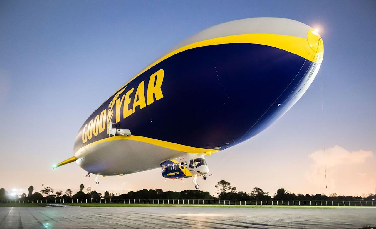 <p>It is, however, 2957 inches of iconic automotive culture, and its 12-ribbed carbon-fiber-and-aluminum skeleton means it's technically a semirigid airship; blimps are, in contrast, giant balloons.</p>