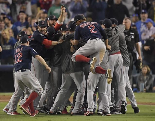 The Boston Red Sox celebrated their ninth World Series championship with a Game 5 win against the Los Angeles Dodgers. (AP)