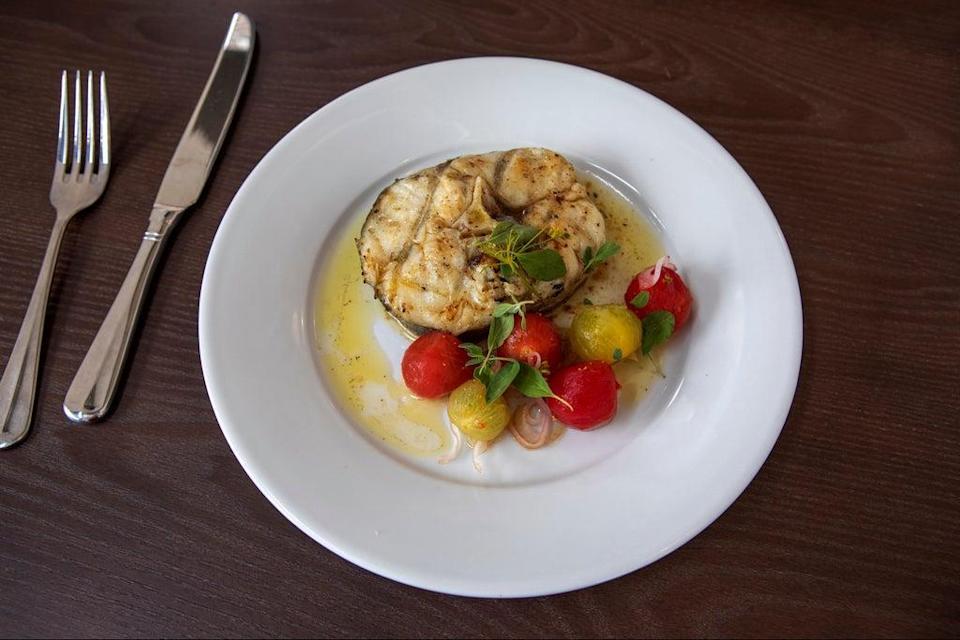 Generous wedge: the hake with tomatoes (Adrian Lourie)