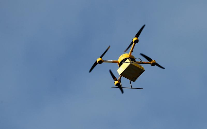 Drones are not allowed to be flown more than 500 meters away from the human behind the controls - Getty Images