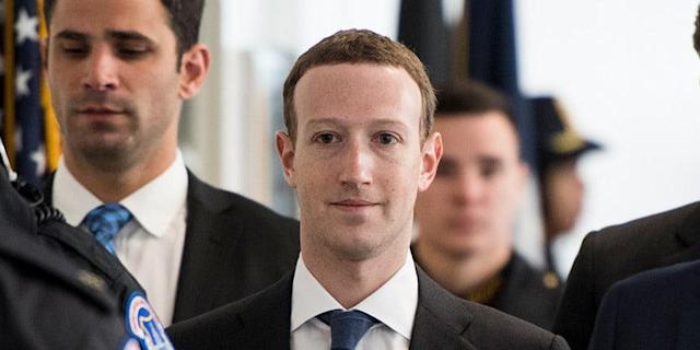 Mark Zuckerberg on Capitol Hill, April 9, 2018.