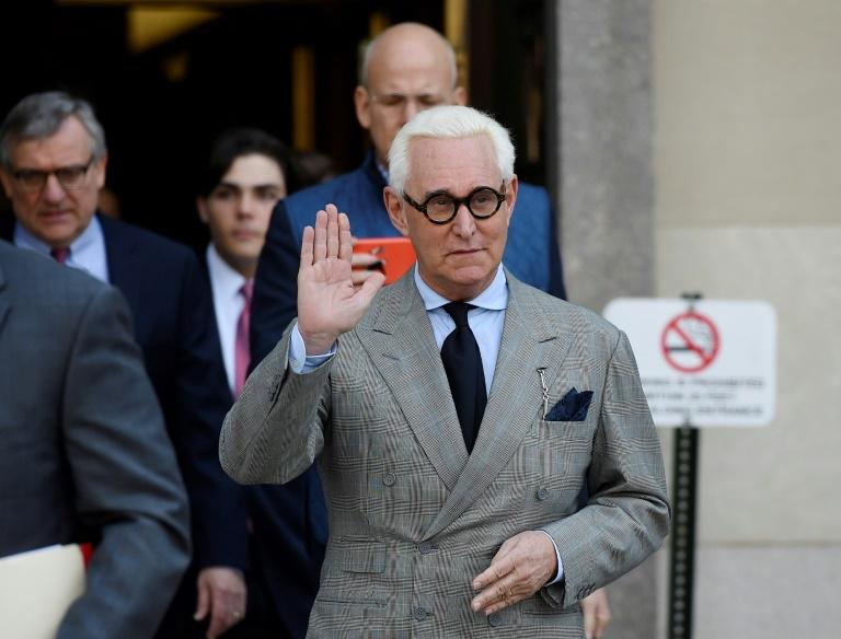 Roger Stone, pictured March 2019, appealed to overturn his conviction and accused jury members of being biased against him (AFP Photo/Andrew CABALLERO-REYNOLDS)