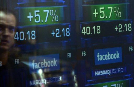 <p>Screens display the start of trading in Facebook shares at the NASDAQ stock exchange in May. Brokers and industry experts told a congressional panel that the flash crash of May 6, 2010, the computer glitch that sabotaged Facebook's IPO last May was an examples of the potential for disaster from ultra high-speed, high-frequency trading (HFY).</p>