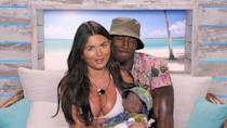 """<p><strong>Relationship status: <strong>Broken up / </strong>Mugged off</strong></p><p><a href=""""https://www.cosmopolitan.com/uk/entertainment/a29604721/love-island-ovie-soko-india-reynolds-split/"""" rel=""""nofollow noopener"""" target=""""_blank"""" data-ylk=""""slk:Apparently these two called it off after four months together."""" class=""""link rapid-noclick-resp"""">Apparently these two called it off after four months together.</a> Sad times...<br></p>"""