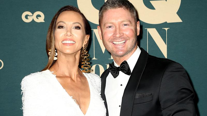 Kyly and Michael Clarke, pictured here at the GQ Australia Men of The Year Awards in 2018.