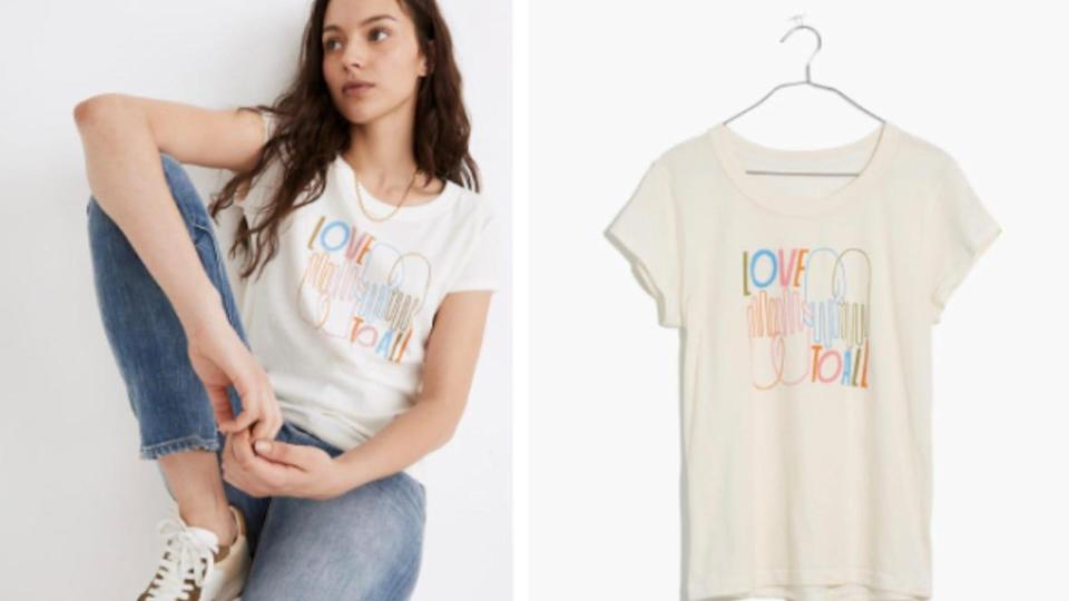 Half of the proceeds from this Madewell collection will go to benefit the ACLU.
