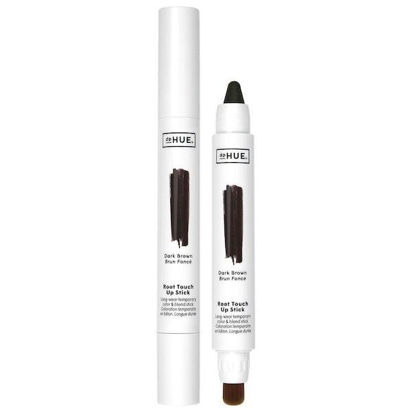 <p>The new <span>dpHUE Long-Wear Temporary Color and Blend Root Touch Up Stick</span> ($28) comes in blonde, red, medium brown, and dark brown options with a built-in brush end to blend any of those shades right into your roots after coloring with the slanted-stick side.</p>