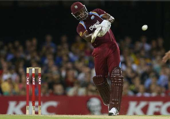 BRISBANE, AUSTRALIA - FEBRUARY 13: Johnson Charles of West Indies bats during the International Twenty20 match between Australia and the West Indies at The Gabba on February 13, 2013 in Brisbane, Australia. (Photo by Chris Hyde/Getty Images)