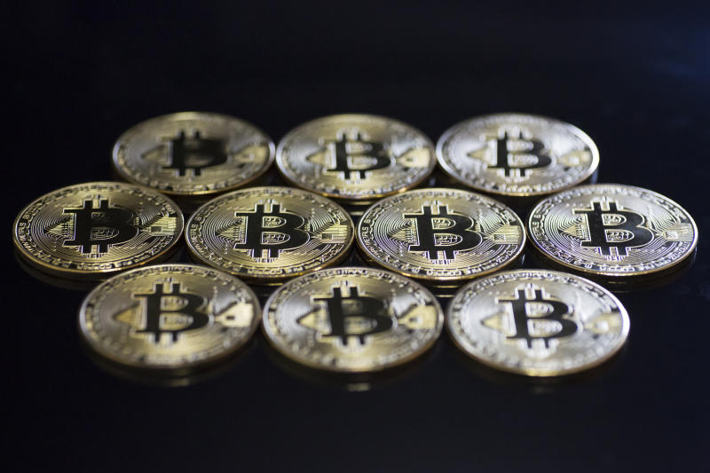 TOKYO, JAPAN - JUNE 05: In this photo illustration visual representations of the digital currency Bitcoin are seen on June 5, 2019 in Tokyo, Japan. Former Mt. Gox Chief Executive Officer Mark Karpeles held a press conference at the Foreign Correspondents' Club of Japan today. Mt. Gox, once the world largest cryptocurrency exchange, collapsed in 2014 after the hacking of 650,000 bitcoins. Karpeles was arrested in 2015 and held for 11 months without bail on three criminal charges. (Photo by Tomohiro Ohsumi/Getty Images)