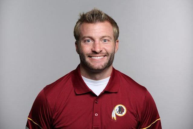 Sean McVay has interviewed for the head coaching openings for the Rams and Niners. (AP)