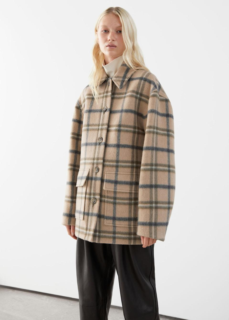 <p>We just want to cozy up in this comfy-looking <span>&amp; Other Stories Oversized Wool Blend Jacket</span> ($249).</p>