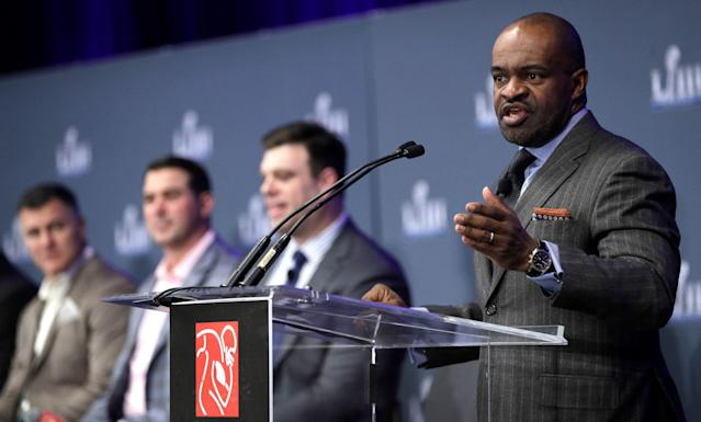 The NFL and NFL Players Association - with executive director DeMaurice Smith shown here - announced initiatives aimed at better pain management and mental health for players. (AP)