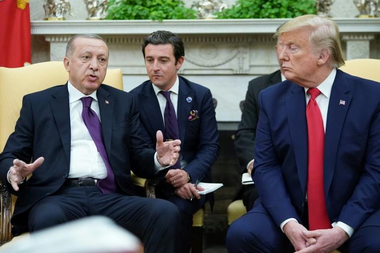 US President Donald Trump hosted Turkey's President Recep Tayyip Erdogan in the Oval Office, ahead of a joint news conference