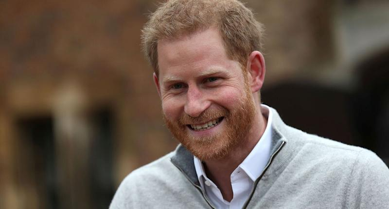 Britain's Prince Harry speaks after Meghan, Duchess of Sussex, gave birth. Source: Reuters