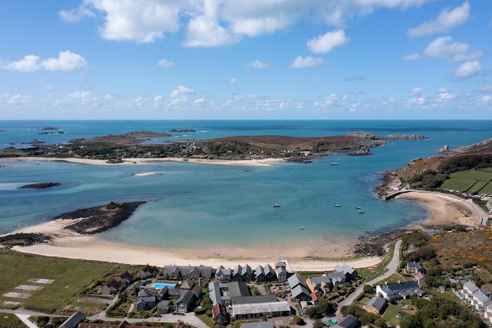 <p>When Kate Middleton and Prince William are looking for a family getaway with their three children — Prince George, Princess Charlotte and Prince Louis — that doesn't require them to travel too far, they head to the Isles of Scilly off the coast of Cornwall. There, the family of five can ride bikes and play in the water. </p>