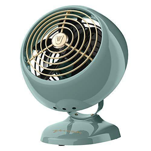 """<p><strong>Vornado</strong></p><p>amazon.com</p><p><strong>$39.99</strong></p><p><a href=""""https://www.amazon.com/dp/B01N39W04I?tag=syn-yahoo-20&ascsubtag=%5Bartid%7C2140.g.36450146%5Bsrc%7Cyahoo-us"""" rel=""""nofollow noopener"""" target=""""_blank"""" data-ylk=""""slk:Shop Now"""" class=""""link rapid-noclick-resp"""">Shop Now</a></p><p>Let's be real, fans don't always add to a room's decor. But this option from Vornado has a very cute vintage design that will look positively perfect on a bedside table, desk, vanity, wherever. Plus, it'll still deliver the cooling power the brand is known for.</p><p><strong>Rave Review: </strong>""""I was looking for a small, no more than 6 inches across, bedside table fan that wouldn't have too large a footprint, give off good air close to the face without being overwhelming, be easy to use, easy to clean, and have a cool vintage look. The Vornado Mini Classic checks all the boxes. """" </p>"""