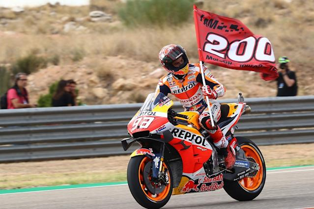 Marquez on brink of title after dominant win