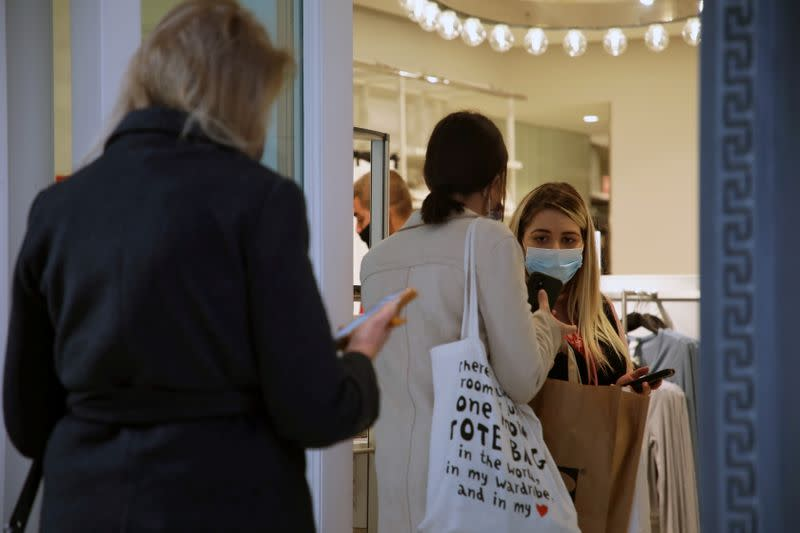 Shops reopen amid the coronavirus disease (COVID-19) pandemic in Athens