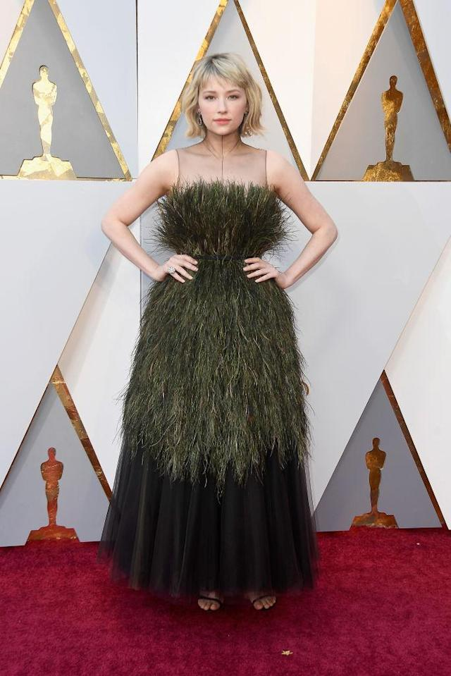 <p>Haley Bennett attends the 90th Academy Awards in Hollywood, Calif., March 4, 2018. (Photo: Getty Images) </p>