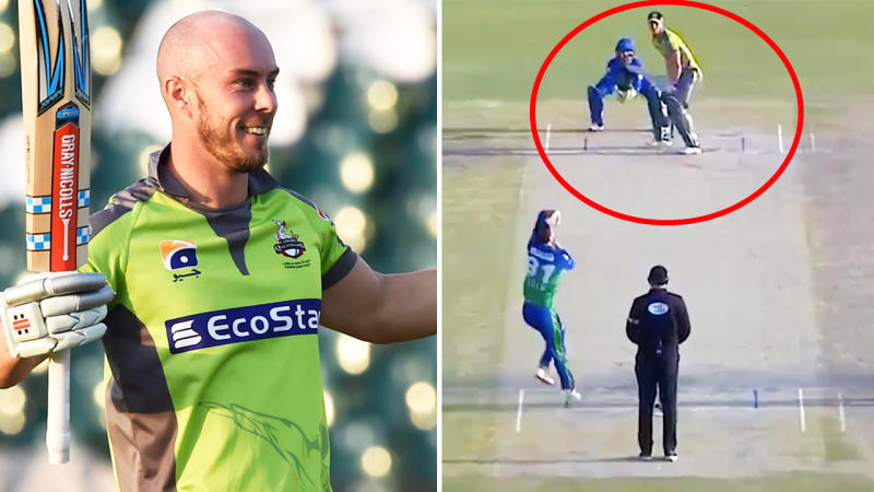 Chris Lynn, pictured here blasting a brilliant century in the Pakistan Super League.
