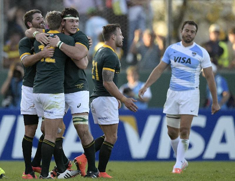 Rugby union - Springboks relieved to edge Pumas