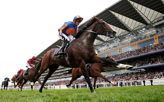 Horse Racing - Royal Ascot - Ascot Racecourse, Ascot, Britain - June 24, 2017 Idaho ridden by Seamie Heffernan wins the 15:40 Hardwicke Stakes Action Images via Reuters/Matthew Childs
