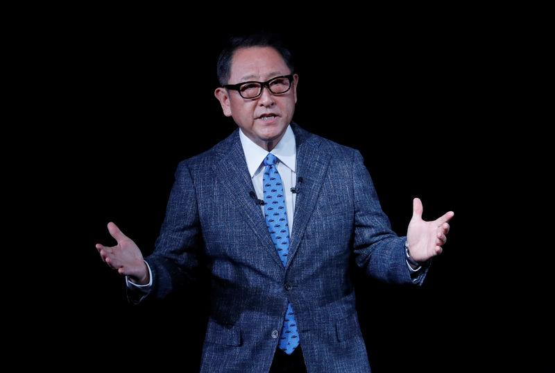 """Toyota Motor Corp President Akio Toyoda attends """"The Connected Day"""" event to launch the new Corolla and new Crown models in Tokyo"""