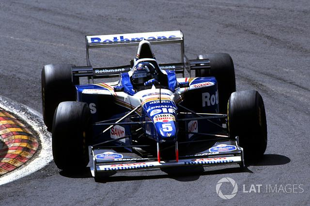 "1996: Williams-Renault FW18 <span class=""copyright"">Sutton Images</span>"