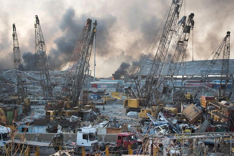 Lebanon-Port Blast (Copyright 2020 The Associated Press. All rights reserved.)