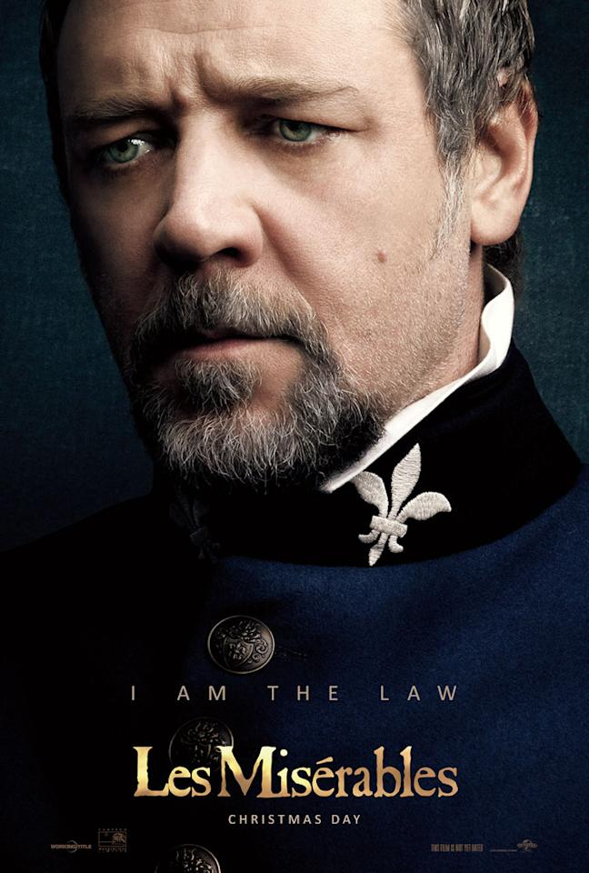 """Russell Crowe as Javert in Universal Pictures' """"Les Miserable"""" - 2012"""