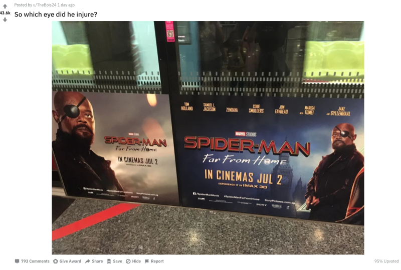 Fans point out 'Spider-Man: Far From Home's Nick Fury