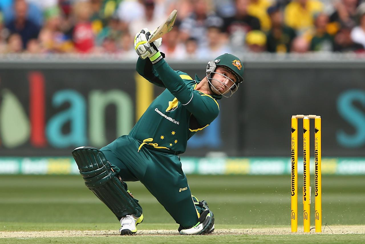 MELBOURNE, AUSTRALIA - FEBRUARY 10:  Phillip Hughes of Australia bats during game five of the Commonwealth Bank International Series between Australia and the West Indies at Melbourne Cricket Ground on February 10, 2013 in Melbourne, Australia.  (Photo by Quinn Rooney/Getty Images)