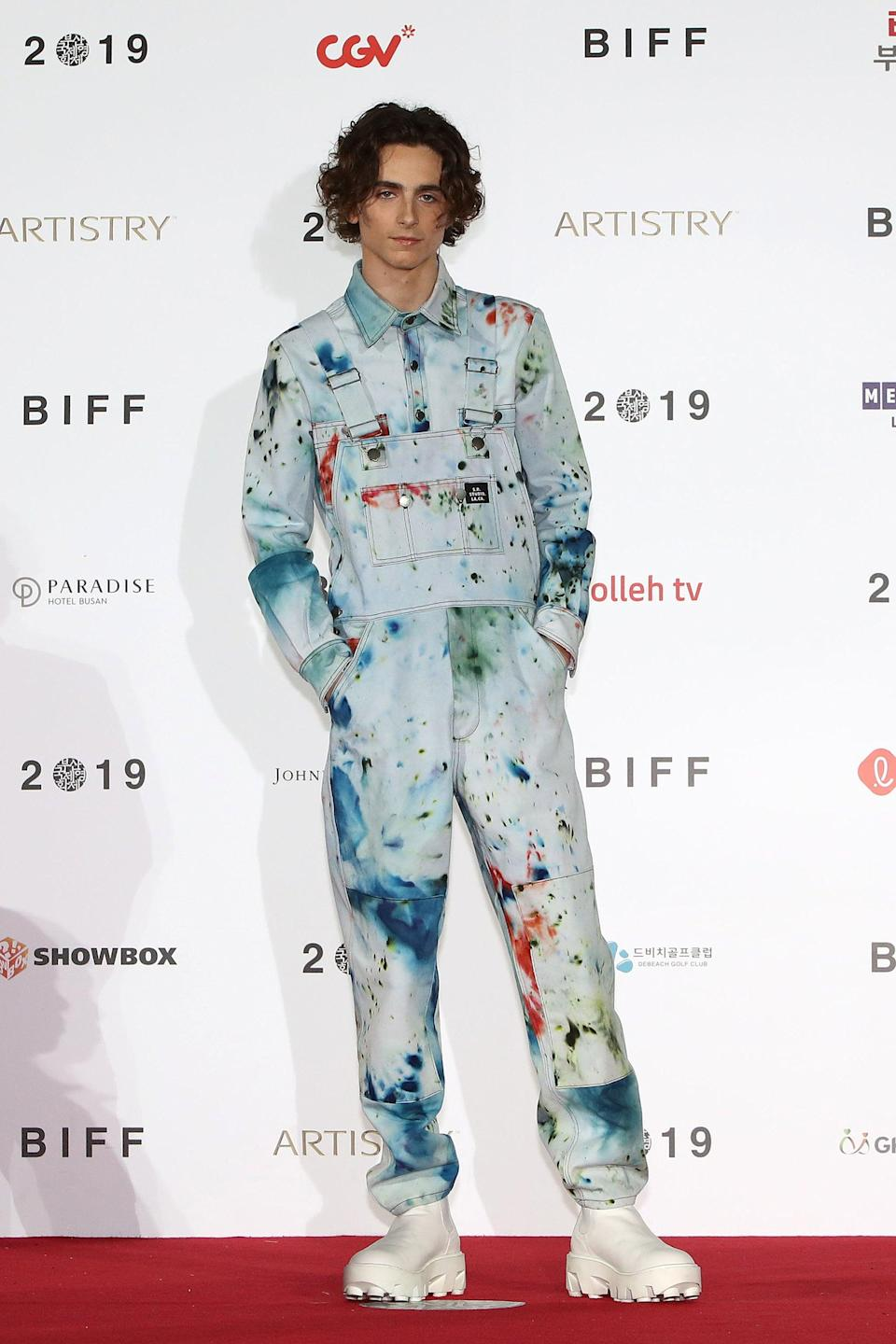 "<h2>S. R. Studio</h2>Did Timothée Chalamet singlehandedly kickstart 2020's tie-dye obsession? We think yes.<br><span class=""copyright"">Photo: Chung Sung-Jun/Getty Images.</span>"