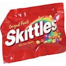 <p><strong>Skittles</strong></p><p>For over three decades, people have been tasting the rainbow every time they snack on these chewy, fruity candies. </p>