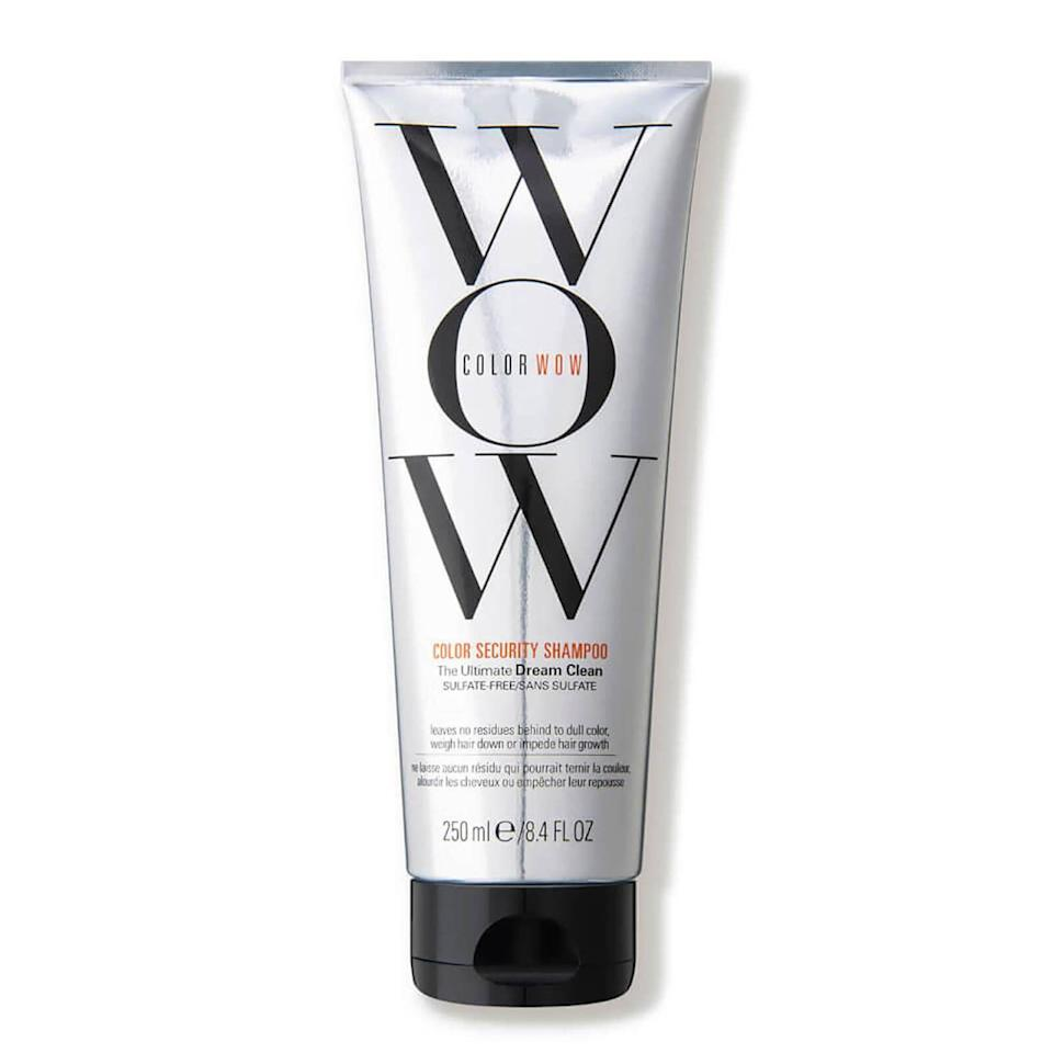 """<p><strong>Color WOW</strong></p><p>dermstore.com</p><p><strong>$23.00</strong></p><p><a href=""""https://go.redirectingat.com?id=74968X1596630&url=https%3A%2F%2Fwww.dermstore.com%2Fcolor-wow-color-security-shampoo-250ml%2F11310090.html&sref=https%3A%2F%2Fwww.harpersbazaar.com%2Fbeauty%2Fhair%2Fg37059982%2Fbest-shampoo-for-colored-hair%2F"""" rel=""""nofollow noopener"""" target=""""_blank"""" data-ylk=""""slk:Shop Now"""" class=""""link rapid-noclick-resp"""">Shop Now</a></p><p>This sulfate- and silicone-free shampoo is specially formulated to rinse out sans any residue, leaving behind cleaner, glossier, brighter hair. </p>"""