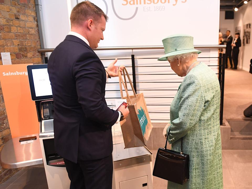 the Queen shopping