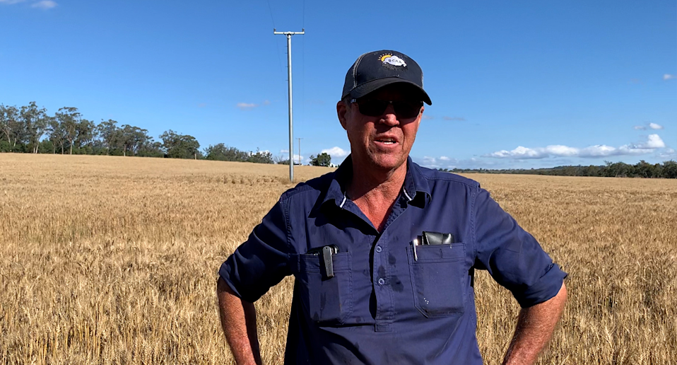 Farmer Scott McCalman wants to see the government tackle climate change. Source: Michael Dahlstrom