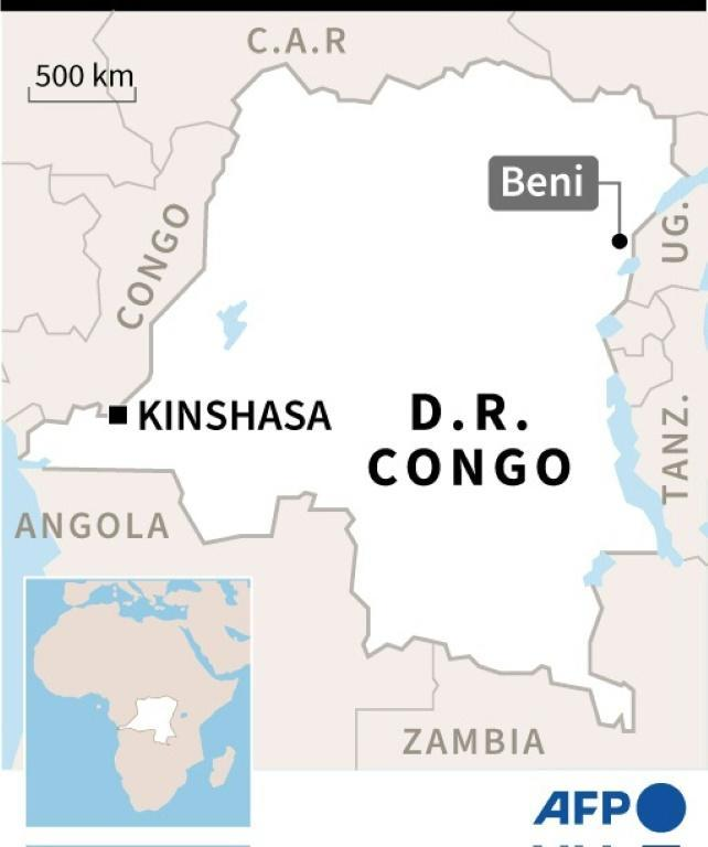 """Beni is in the vast central African country's North Kivu region, which has been under a """"state of siege"""" since May as federal forces attempt to crack down on militia groups waging a bloody conflict"""