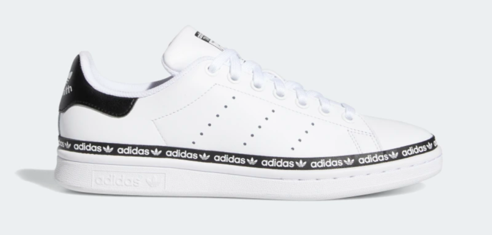 Adidas Women's Stan Smith Shoes in Cloud White and Core Black